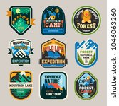 isolated signs or badges  logo... | Shutterstock .eps vector #1046063260