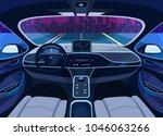 interior view on futuristic... | Shutterstock .eps vector #1046063266