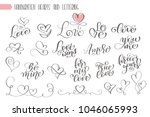 big set hand written lettering... | Shutterstock . vector #1046065993