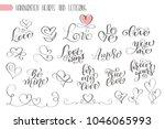big set hand written lettering... | Shutterstock . vector #1046065993