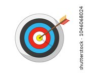 vector flat icon. arrow hitting ... | Shutterstock .eps vector #1046068024