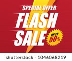 flash sale special offer... | Shutterstock .eps vector #1046068219