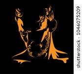 man portrait silhouette in...   Shutterstock .eps vector #1046075209