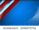 flag of usa background for... | Shutterstock .eps vector #1046075716