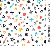 abstract seamless pattern with... | Shutterstock .eps vector #1046076406