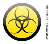 biohazard sign isolated on a... | Shutterstock .eps vector #104608103