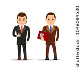 businessman stand and holds... | Shutterstock .eps vector #1046084530