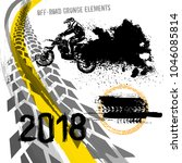 off road motorcycle elements... | Shutterstock .eps vector #1046085814