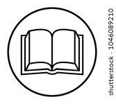 open book icon   Shutterstock .eps vector #1046089210