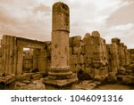 golden gerasa ancient city | Shutterstock . vector #1046091316