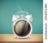 cup of coffee in the form of... | Shutterstock .eps vector #1046091484