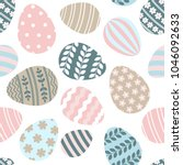 happy easter seamless pattern... | Shutterstock . vector #1046092633
