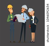 technician and builders and... | Shutterstock .eps vector #1046092654