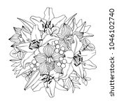 flower  bouquet. vector...   Shutterstock .eps vector #1046102740