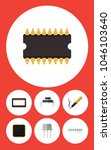 icon flat electronics set of... | Shutterstock .eps vector #1046103640