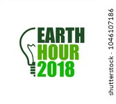 earth hour event icon  earth... | Shutterstock .eps vector #1046107186