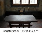 historical interior with wooden ... | Shutterstock . vector #1046112574