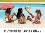female friends having party by...   Shutterstock . vector #1046118679