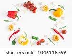 ingredients for cooking pasta... | Shutterstock . vector #1046118769