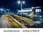 industrial rail yard shunting...   Shutterstock . vector #1046119819