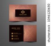 abstract modern business card...   Shutterstock .eps vector #1046120650