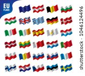 flags of the european union | Shutterstock .eps vector #1046124496