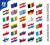 flags of the european union | Shutterstock .eps vector #1046124526