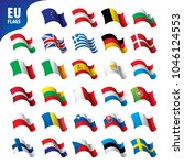 flags of the european union | Shutterstock .eps vector #1046124553