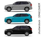 realistic suv cars set. side...   Shutterstock .eps vector #1046126839