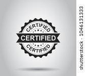 certified grunge rubber stamp.... | Shutterstock .eps vector #1046131333