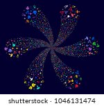 psychedelic mushrooms cyclonic... | Shutterstock .eps vector #1046131474