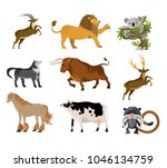 wild animals collection | Shutterstock .eps vector #1046134759