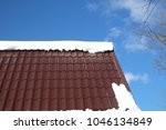 side of country house roof from ... | Shutterstock . vector #1046134849