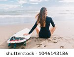Surf Girl With Long Hair...