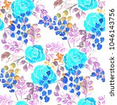 watercolor seamless pattern... | Shutterstock . vector #1046143756