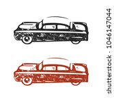 vintage hand drawn cars. retro... | Shutterstock .eps vector #1046147044