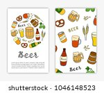 card templates with hand drawn... | Shutterstock .eps vector #1046148523