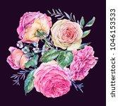 decorative vintage watercolor... | Shutterstock . vector #1046153533