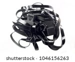 Small photo of Tefillin -[Jewish phylactery] with black straps on a with blackground