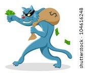 Cartoon Illustration Of A Cat...