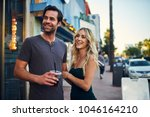 attractive romantic couple... | Shutterstock . vector #1046164210