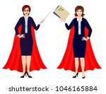businesswomen are superheroes.... | Shutterstock .eps vector #1046165884