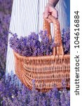 basket with a lavender | Shutterstock . vector #104616884