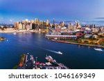 dark sunset in sydney city cbd... | Shutterstock . vector #1046169349