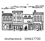 small town main street   retro... | Shutterstock .eps vector #104617730