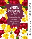 spring is sprung quote for... | Shutterstock .eps vector #1046177464
