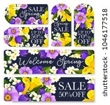 spring sale shopping tags set... | Shutterstock .eps vector #1046177518