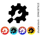 setting icon vector. gear icon. ... | Shutterstock .eps vector #1046187613