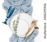 tableware and decorations for... | Shutterstock . vector #1046195566