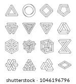 set of impossible shapes.... | Shutterstock .eps vector #1046196796